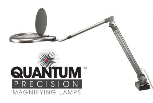 Quantum Precision 80 LED Magnifier Lamp - 7 Inch Lens Professional Lab Quality Efficient