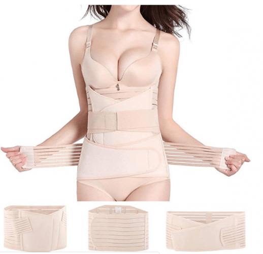 Hip Mall 3 in 1 Postpartum Girdle Support Recovery Belly Wrap Postnatal C Section Belt