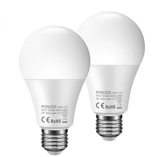 Motion Sensor Light Bulb 5W, 50W Equivalent Smart Bulb Radar LED Motion Sensor Light Bulbs E26 Base Indoor Sensor Night Lights Soft White 2700K Outdoor Motion Sensor Bulb Auto On/Off