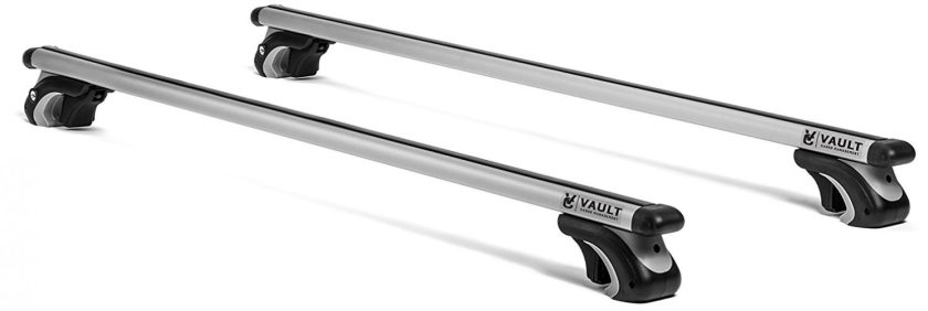 """Roof Rack Crossbars 54"""" Universal Locking Crossbars by Vault - Carry Your Canoe, Kayak, Cargo Safely with Aerodynamic Design - Mounts to The Rooftop of Your Car or SUV 