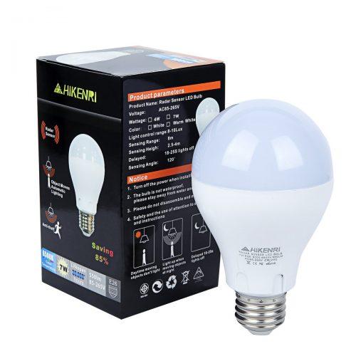 Motion Sensor Light Bulb,7W(60W Equivalent) Radar Smart Bulb Dusk to Dawn LED Motion Sensor Light Bulbs E26/E27Base Indoor Sensor Night Lights White 6500K Outdoor Motion Sensor Bulb Auto On/Off