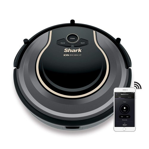 SHARK ION Robot Vacuum R75 WiFi-Connected, Voice Control Dual-Action Robotic Vacuum Carpet, and Hard Floor Cleaner Works with Alexa (RV750)