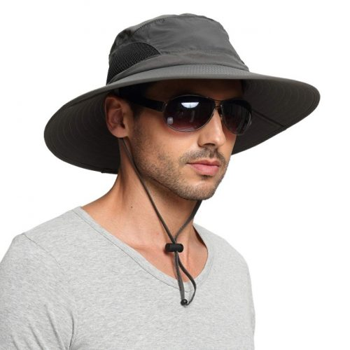 EINSKEY Sun Hat for Men/Women, Outdoor Sun Protection Wide Brim Bucket Hat Waterproof Breathable Packable Boonie Hat for Safari Fishing Beach Golf