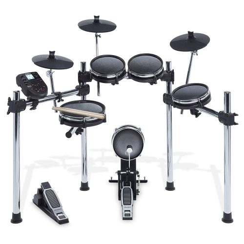 Alesis Surge Mesh Kit - Eight-Piece Electronic Drum Kit with Mesh Heads, Chrome Rack and Surge Drum Module including 40 Kits, 385 sounds, 60 Play-Along Tracks and USB/MIDI Connectivity