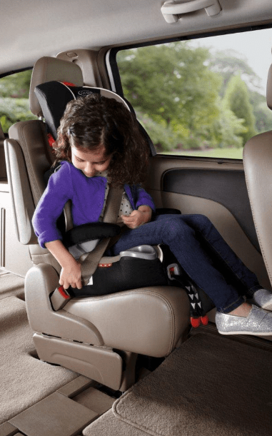 graco affix youth booster seat with latch system atomic