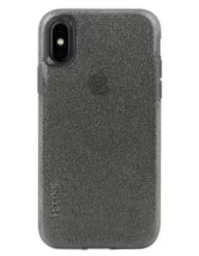 מגן איכותי לאייפון XS שקוף אפור נצנץ - SKECH Matrix for XS