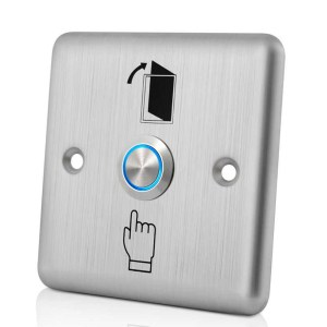 LED Backlight Stainless Steel Exit Push Switch Door Button