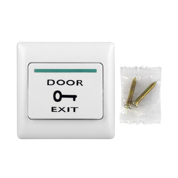 Plastic Door Open Release Exit Push Button Switch with 2 Screw for Connect