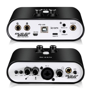 Icon Pro Audio Duo 22 Live USB Audio Interface with Mobile