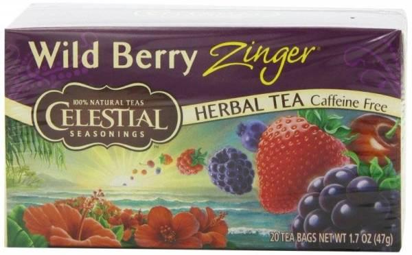 Celestial Seasonings Wild Berry Zinger Herbal Tea 20 Bags