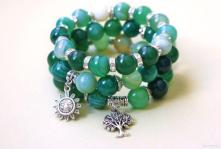 Green Bead Wrap Bracelet