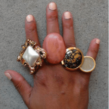 Button Statement Rings