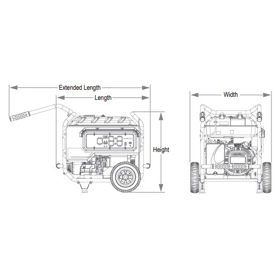 Generac XT8000EFI Electronic Fuel Injection Portable