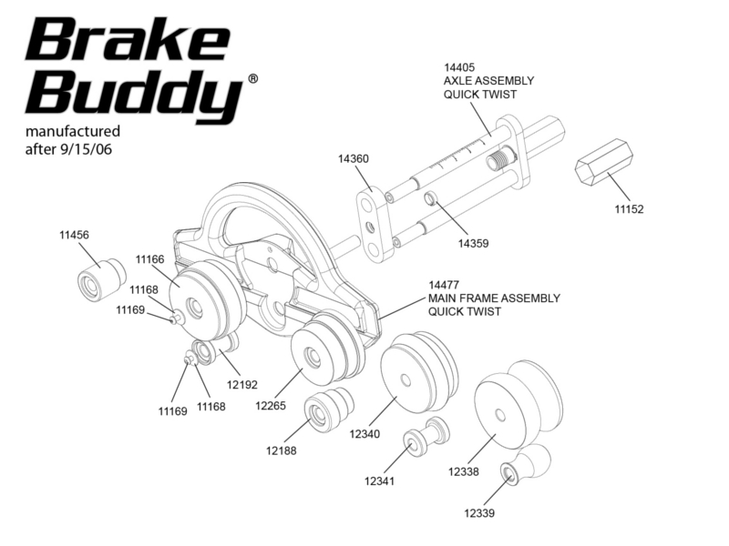 Tapco Brake Buddy Replacement Parts from BuyMBS.com