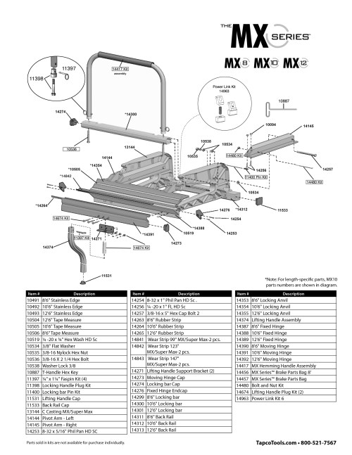 small resolution of expanded mx series parts list