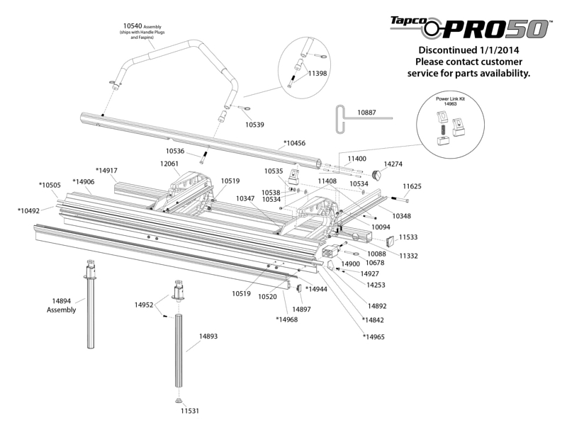 Tapco Pro 50 Replacement Parts from BuyMBS.com
