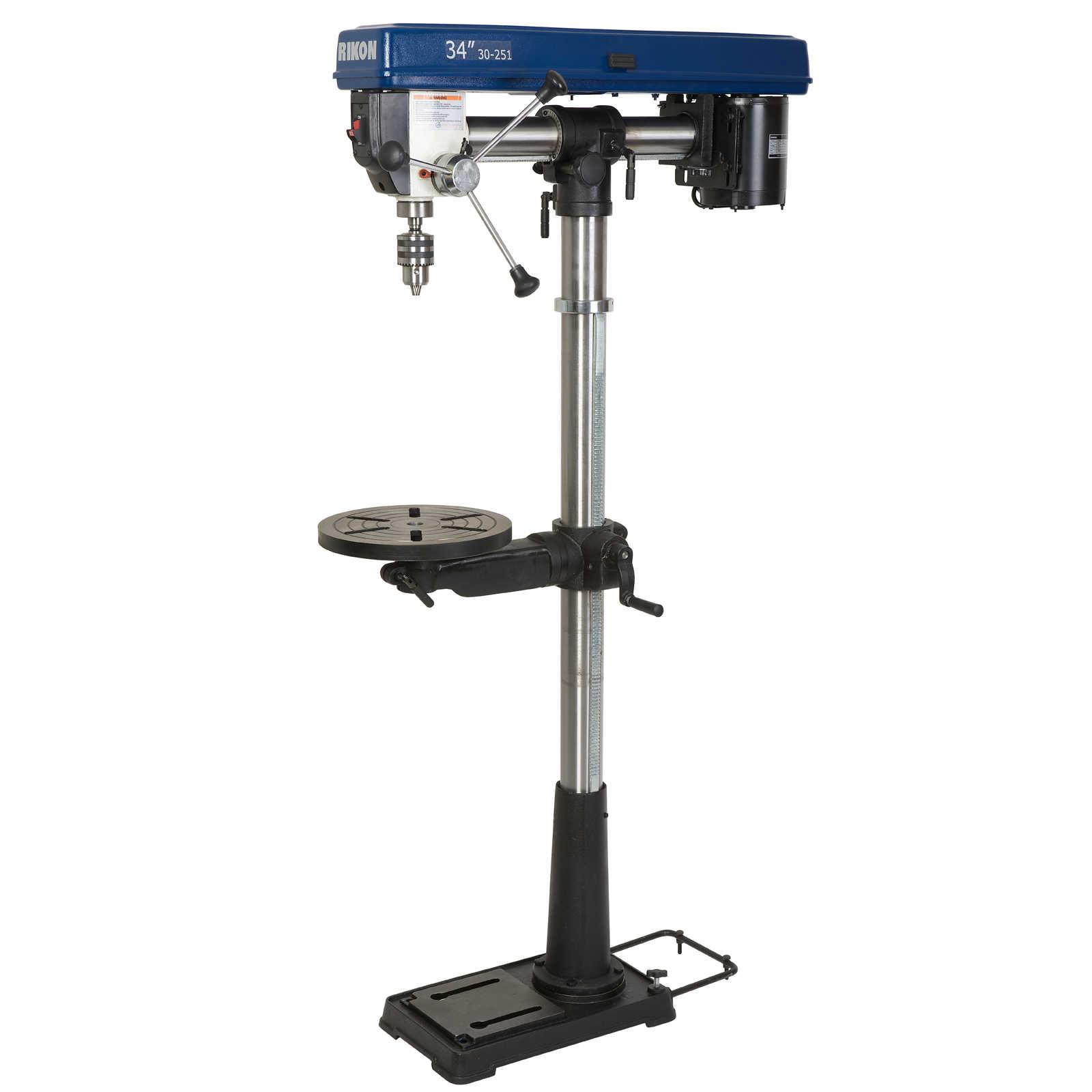 Rikon 34in 13HP Radial Floor Model Drill Press from