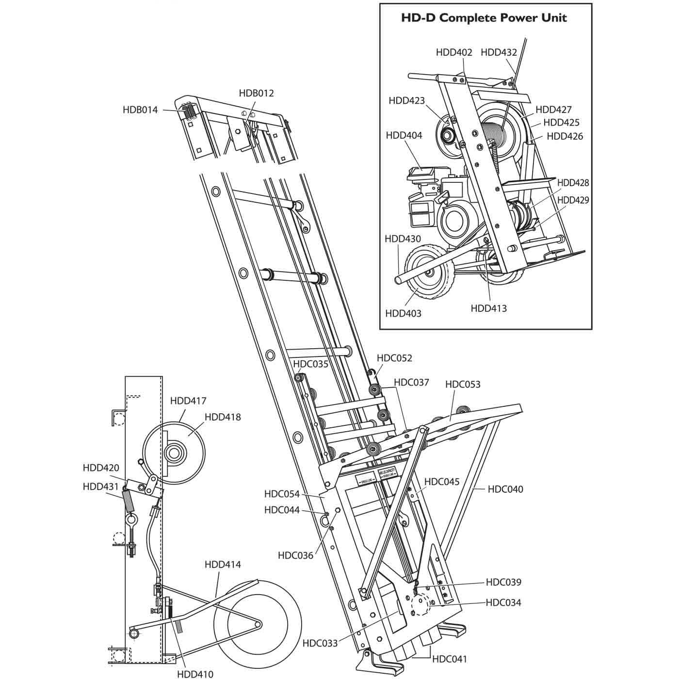 Safety Hoist HD400 Replacement Parts from BuyMBS.com