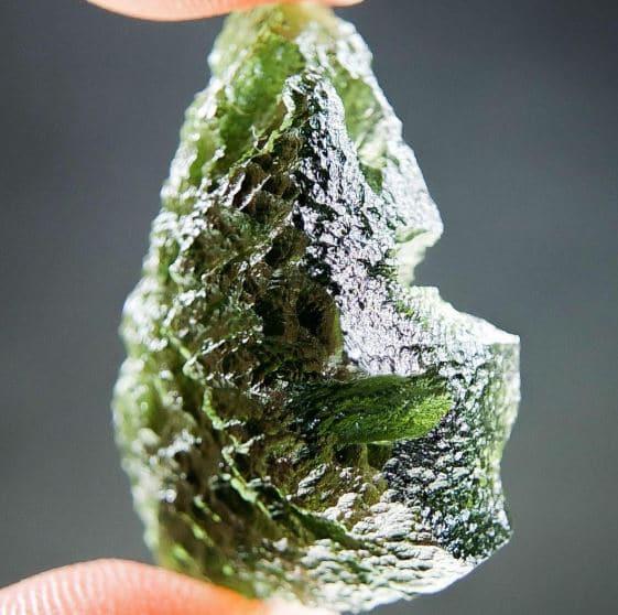 Glossy Moldavite - Certified 1