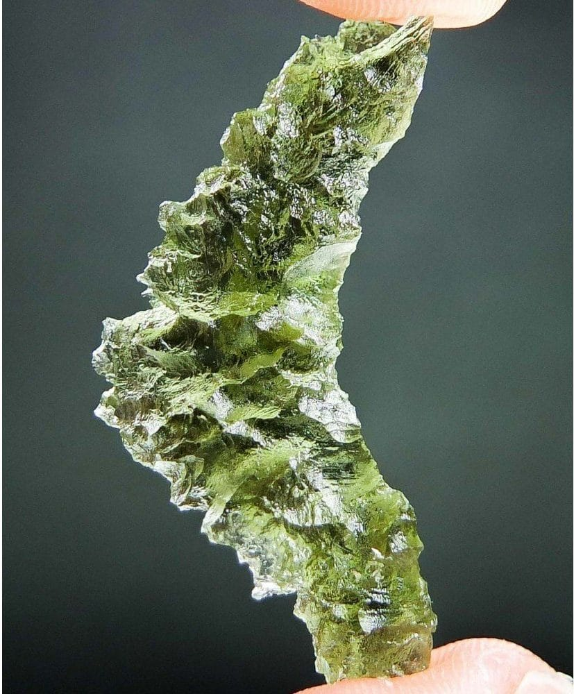Natural Raw Moldavite Basednice with Certificate of Authenticity (3.95grams)