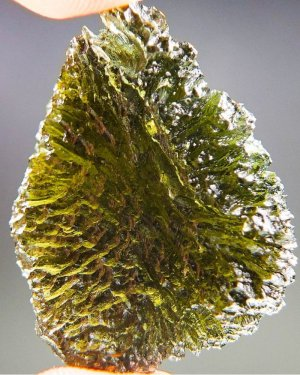 Unique High Quality A+ Large Moldavite with Certificate of Authenticity (10.39grams)