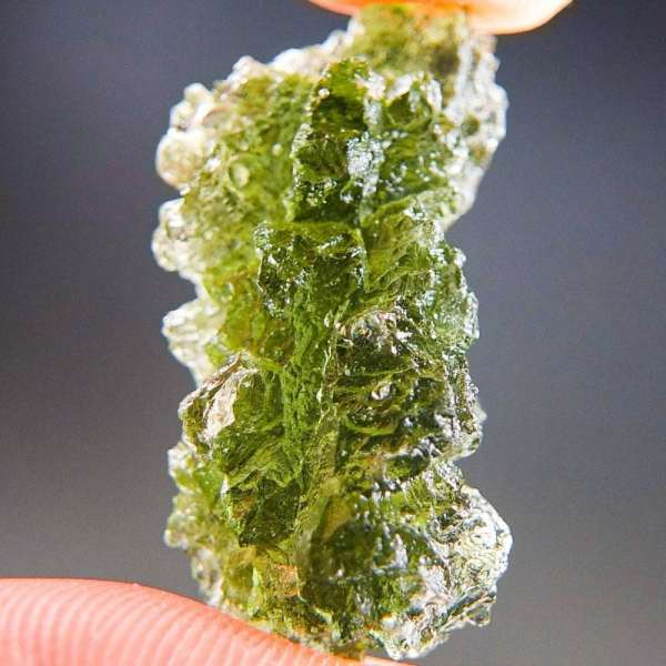 Excellent Natural Shape Authentic Moldavite With Certificate Of Authenticity (5.09grams)1