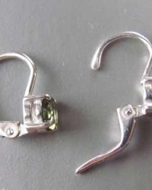 Excellent Round Shape Moldavite Earrings (1.3grams)