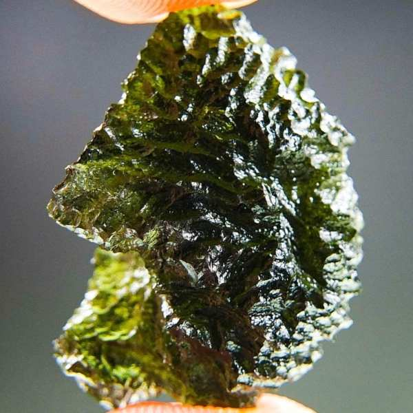Rare Glossy Natural Piece Certified Moldavite