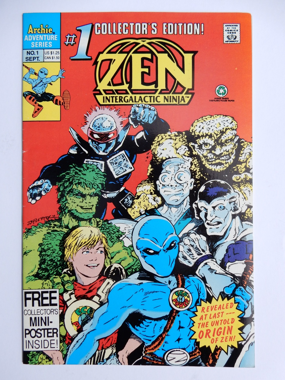 Zen Intergalactic Ninja #1 Comic Book