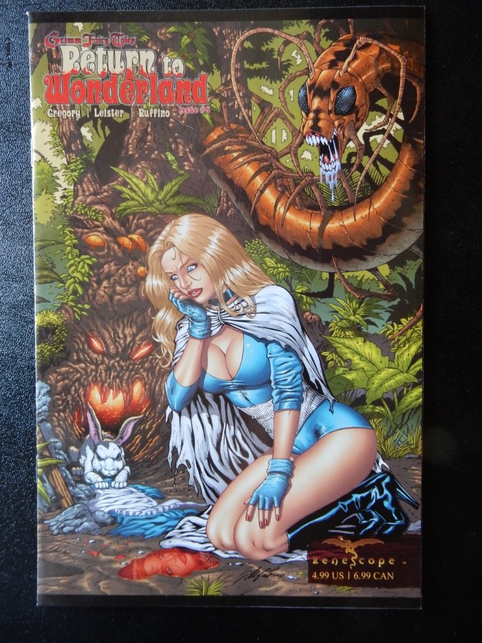 Return To Wonderland #6 - Gatefold Pull-Out Cover by Al Rio