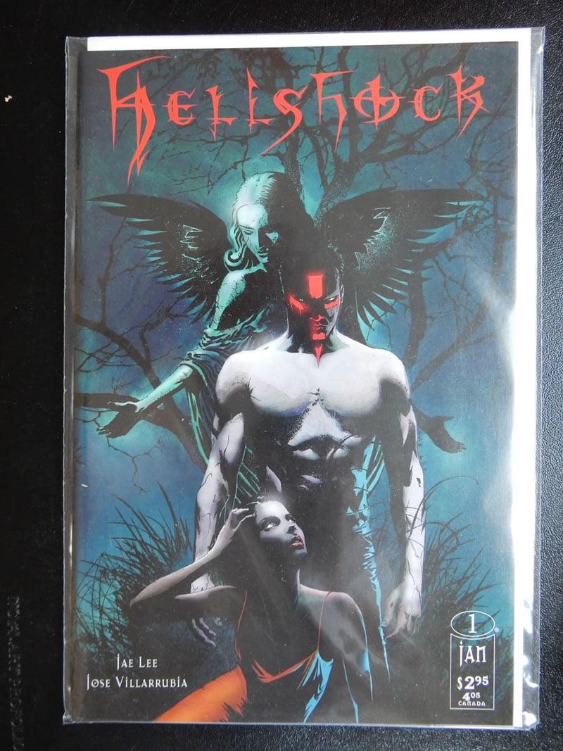 Hellshock #1 with excellent dark art by Jae Lee