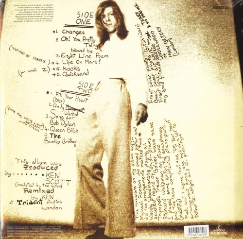 David Bowie - Hunky Dory- Limited Edition, 180 Gram, Vinyl, Reissue, Parlaphone, 2016