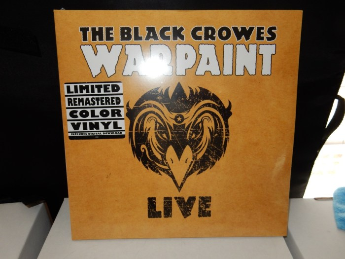 """The Black Crowes """"Warpaint Live"""" 3XLP Yellow Colored Vinyl Reissue"""