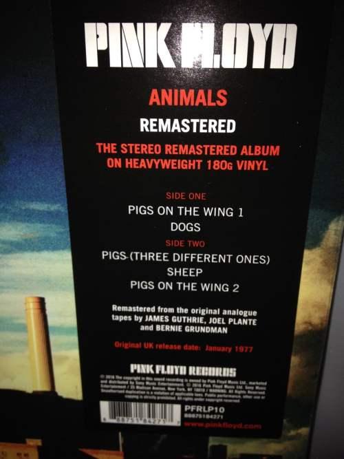 """Pink Floyd """"Animals"""" 180 Gram Remastered Vinyl LP 2016 NEW"""