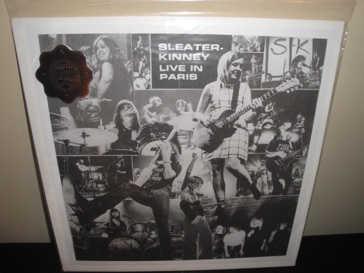 "Sleater-Kinney ""Live In Paris"" Vinyl LP 2017 Sub Pop"