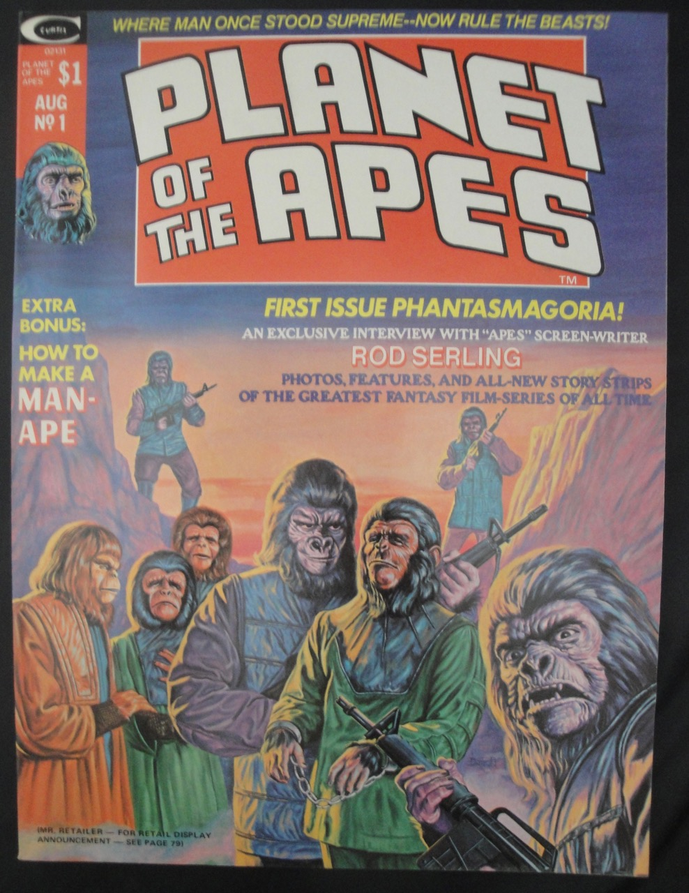 Planet Of The Apes #1 - 1974 - VF+ condition, Rod Serling