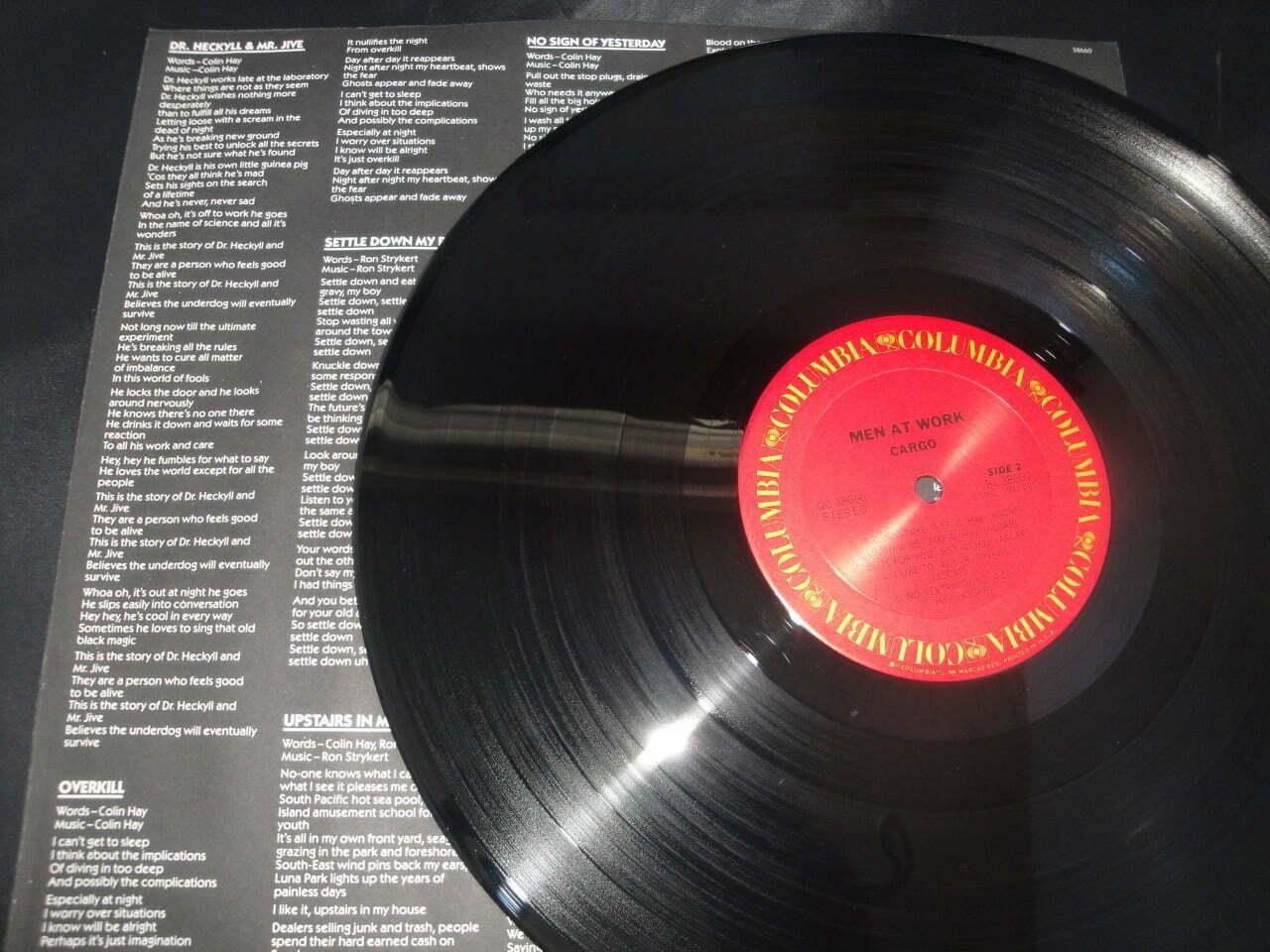 Men At Work - Cargo - 1983 Vinyl LP in Excellent Condition