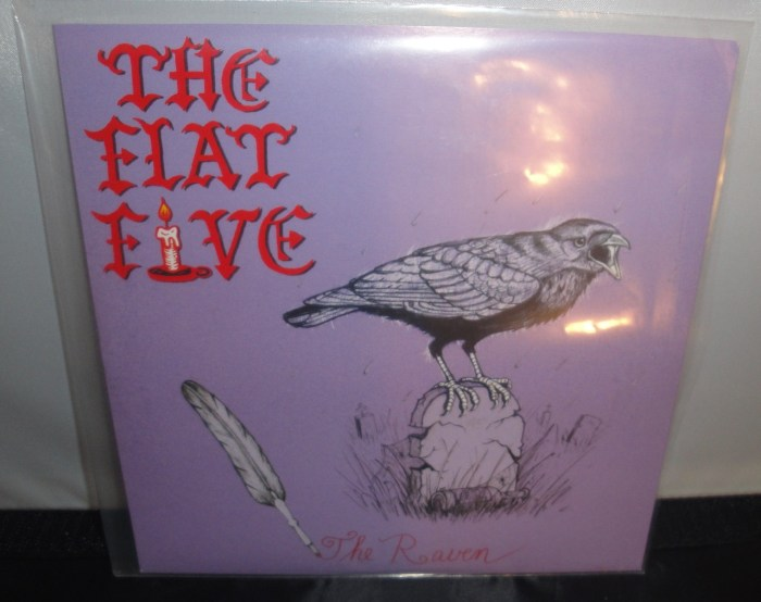 "The Flat Five - The Raven - 7"" Vinyl Single, Limited Edition, Smoky Orange"