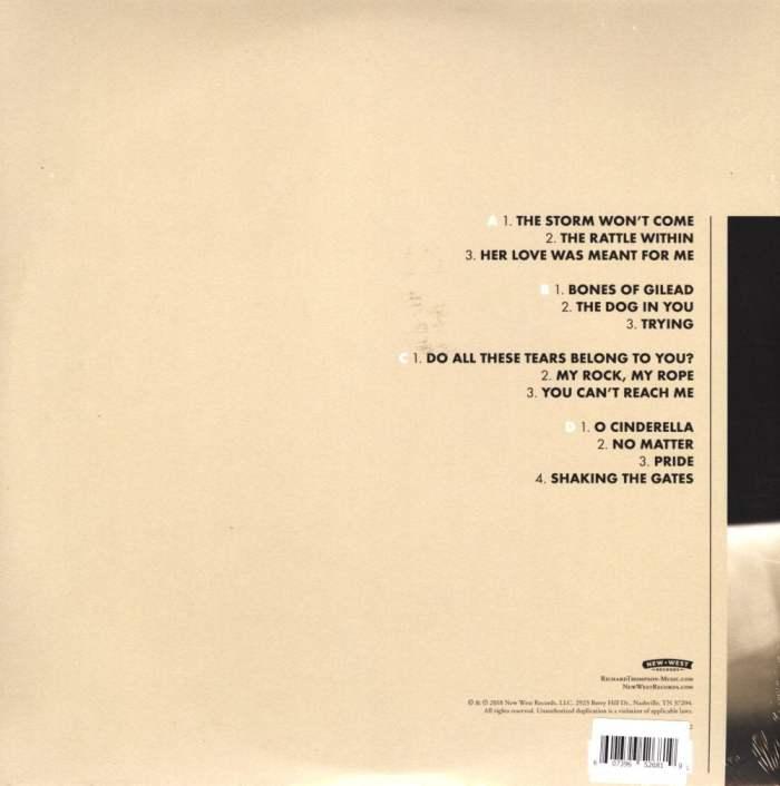 Richard Thompson – 13 Rivers, Ltd Ed, Cream, Black, Colored Vinyl, New West 2018