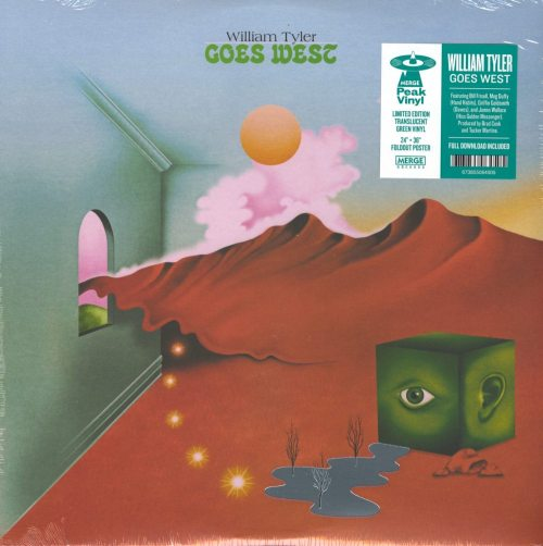 William Tyler - Goes West - Ltd Ed, Green, Colored Vinyl, Poster, Merge Records, 2019