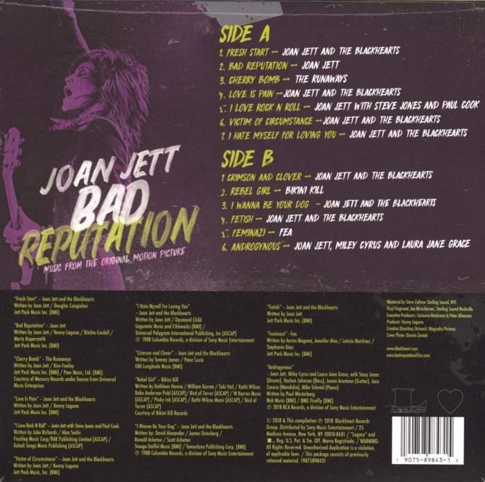 Joan Jett - Bad Reputation: Music From The Original Motion Picture - Vinyl, LP, 2019