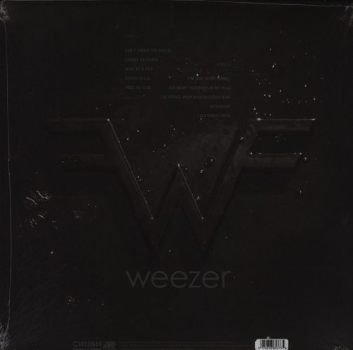 Weezer - Weezer (Black Album) - Black and Clear Split, Colored Vinyl, 2019