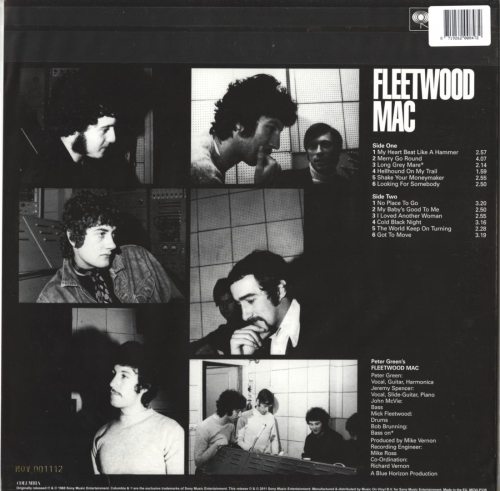 Fleetwood Mac - Peter Green's Fleetwood Mac - Ltd Ed, Numbered, Blue, Vinyl, Reissue, 2018