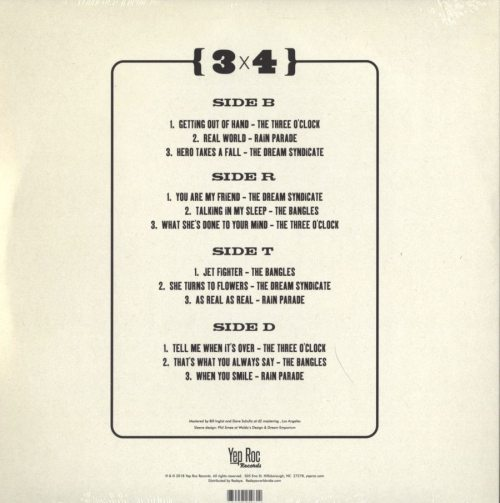 Various Artists - 3 x 4 - Paisley Underground, Bangles, Rain Parade, Dream Syndicate, Three O'Clock, Purple Vinyl