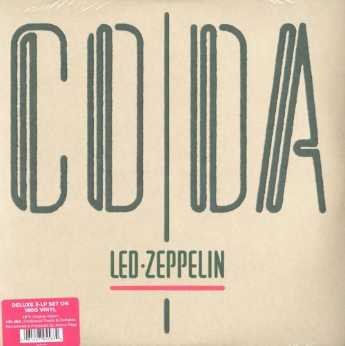 Led Zeppelin - CODA - 180 Gram, Deluxe, 3XLP, Remastered, Atlantic, 2015