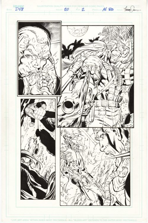 DV8 #20, page 2, Original Comic Art, Al Rio pencils, Trevor Scott inks, Wildstorm Comics, 1998