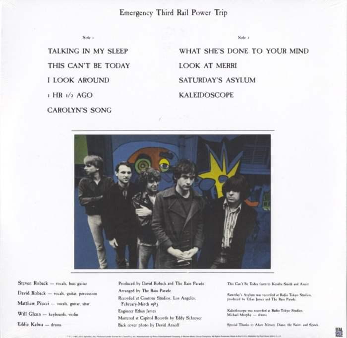 Rain Parade - Emergency Third Rail Power Trip - Ltd Ed, Red, Yellow, Starburst, Vinyl, LP, Real Gone Music, 2019