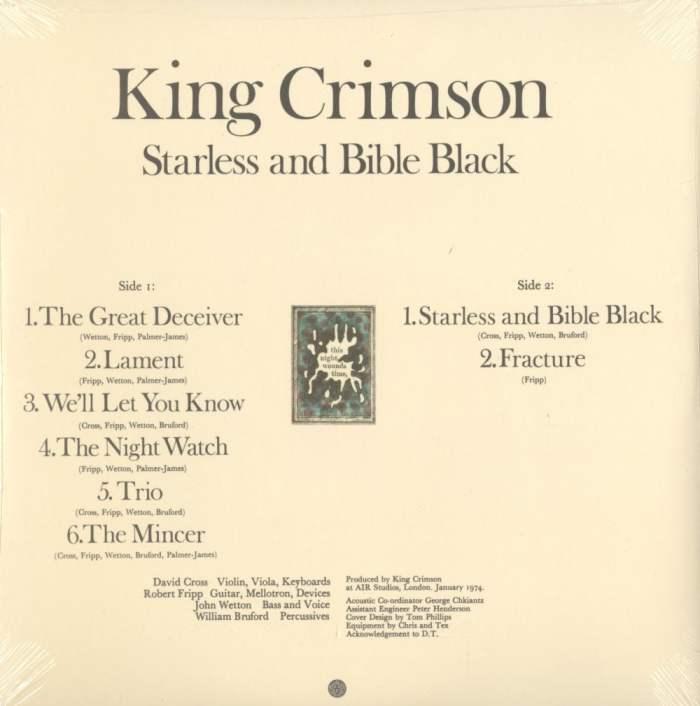 King Crimson - Starless and Bible Black - 200 Gram, Vinyl, LP, Remastered, Discipline Us, 2015