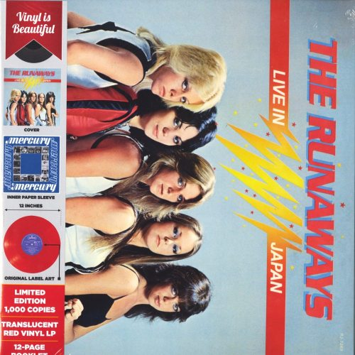 The Runaways - Live In Japan - Limited Edition, Red, Colored Vinyl, Reissue, 2019
