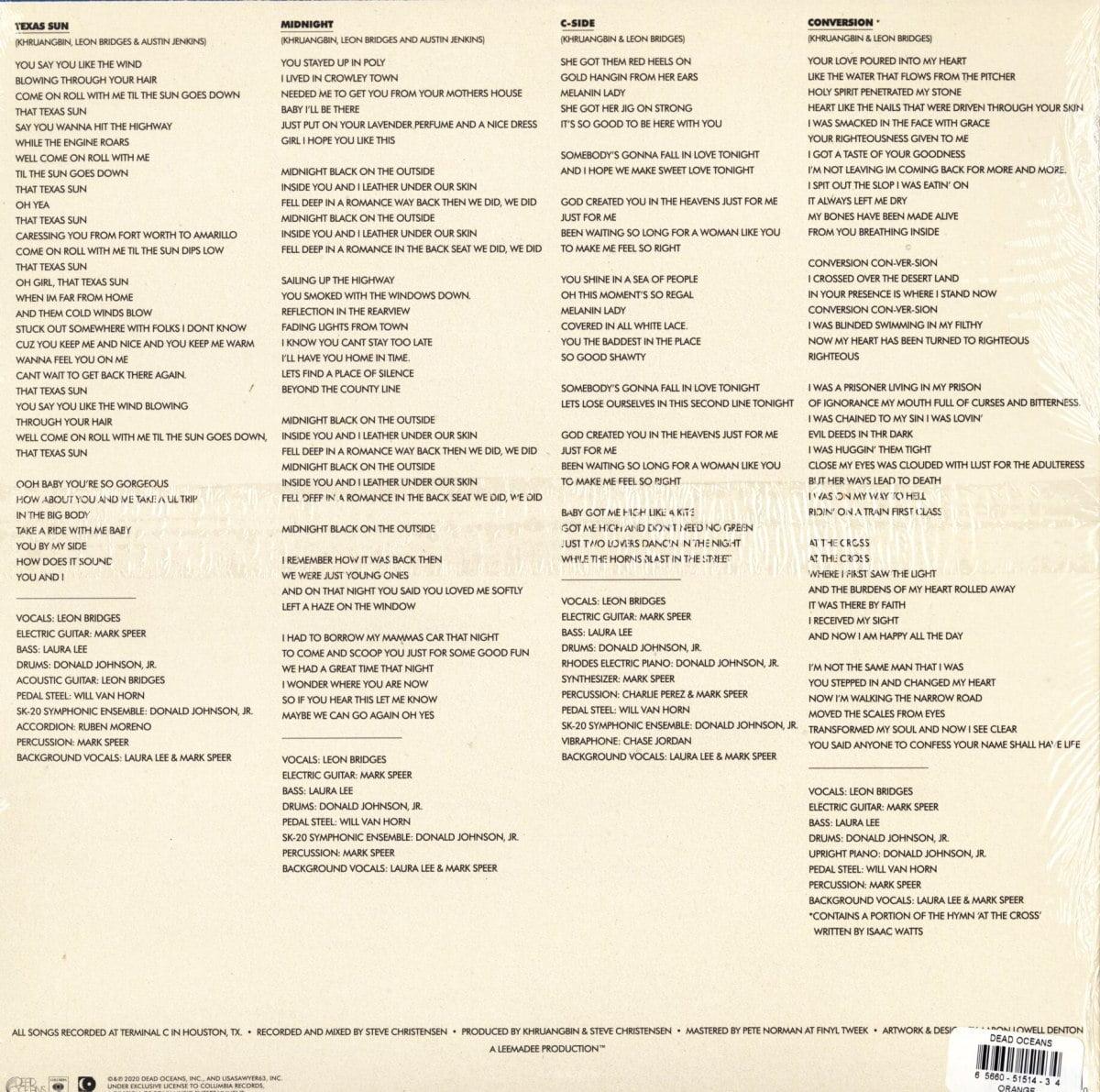 Khruangbin and Leon Bridges - Texas Sun - Limited Edition, Orange, Colored Vinyl, EP, Dead Oceans, 2020